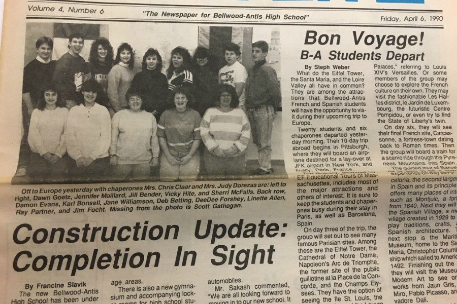 A European vacation was on the horizon for B-A language club members in the spring of 1990.