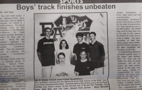 The boys and girls track teams were dominant in 1997-98.