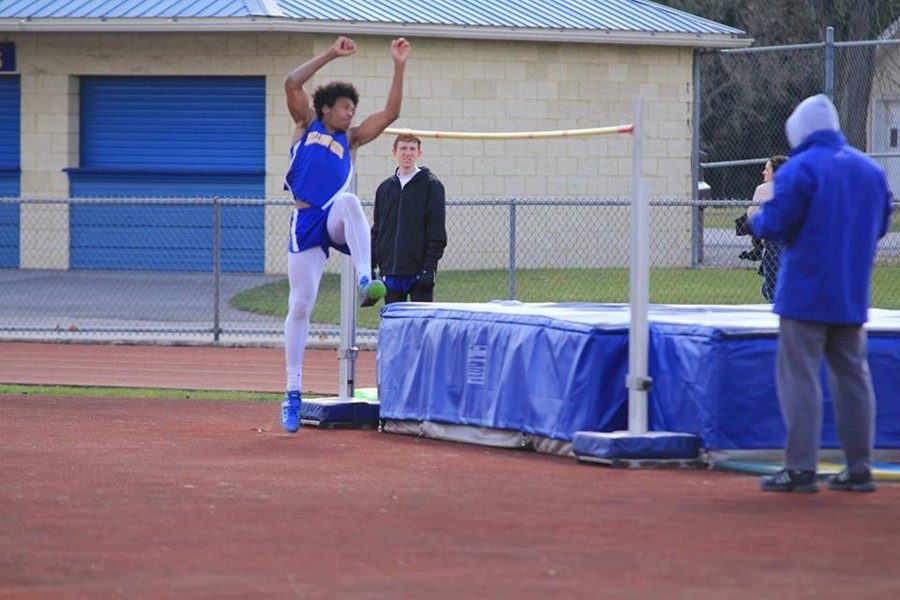 Clay Engle won three jumping events against McConnelsburg and Tussey Mountain.