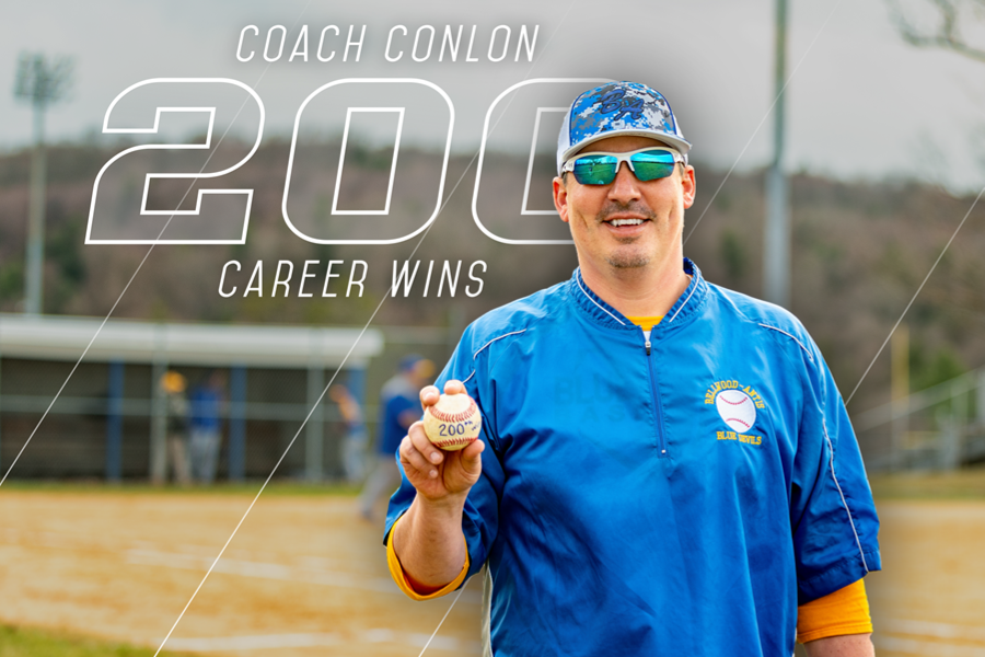 Blue Devil baseball coach Steve Conlon reached 200 career wins Monday against Glendale