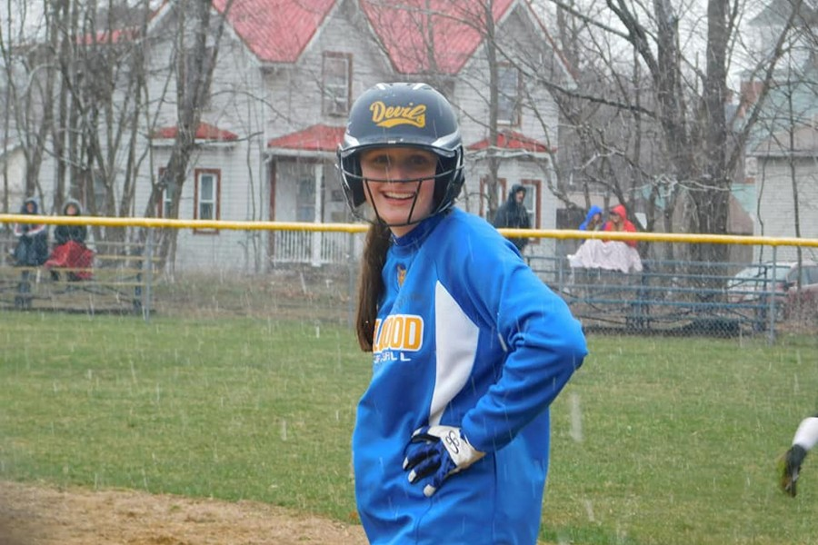 Faith Patton won the softball game in dramatic fashion, slamming the game-winning double in B-A's last at-bat.