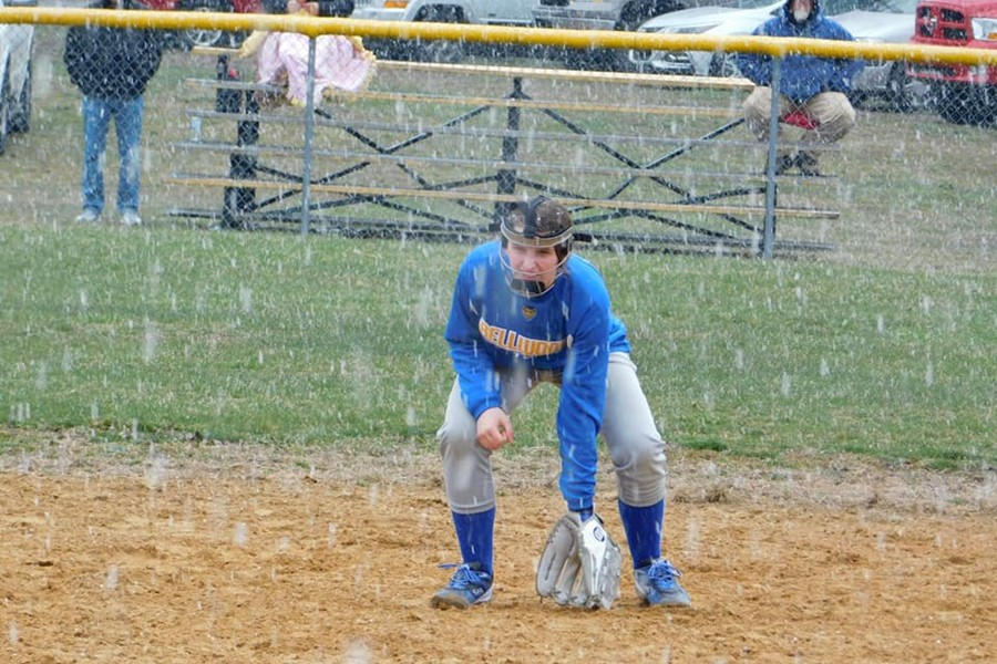 Despite frigid temperatures, sophomore Faith Patton had a hot start to the softball season.