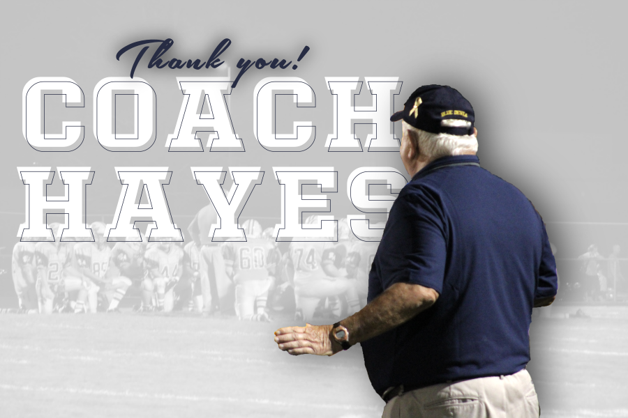 After nearly 40 years, Blue Devil football coach John Hayes retired today.