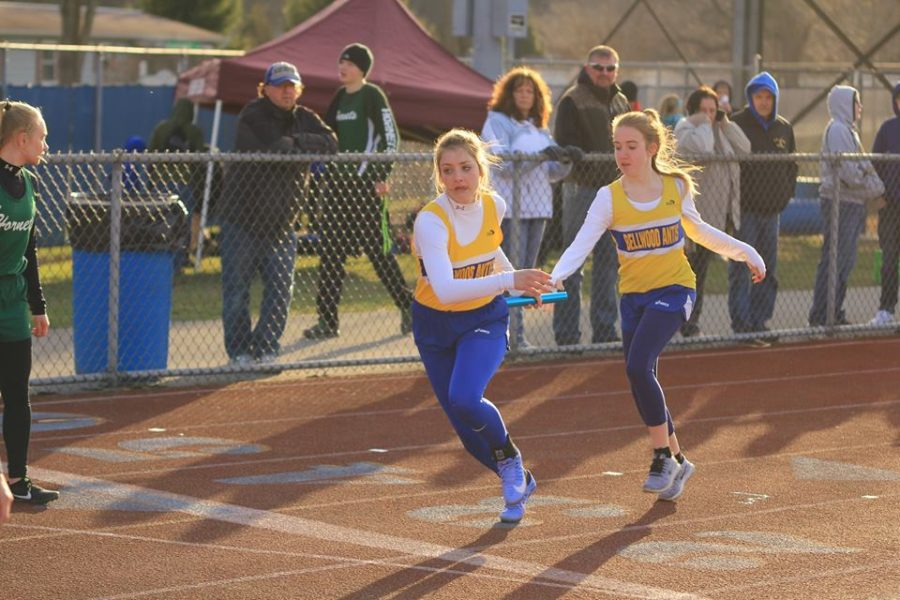 Jamyson Focht had victories in the 100 and 200 in the girls dual meet at Mount Union.