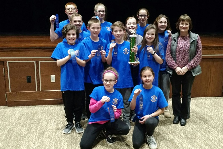 The Bellwood-Antis Middle School Blue reading team placed first at last week's meet in Forest Hills.