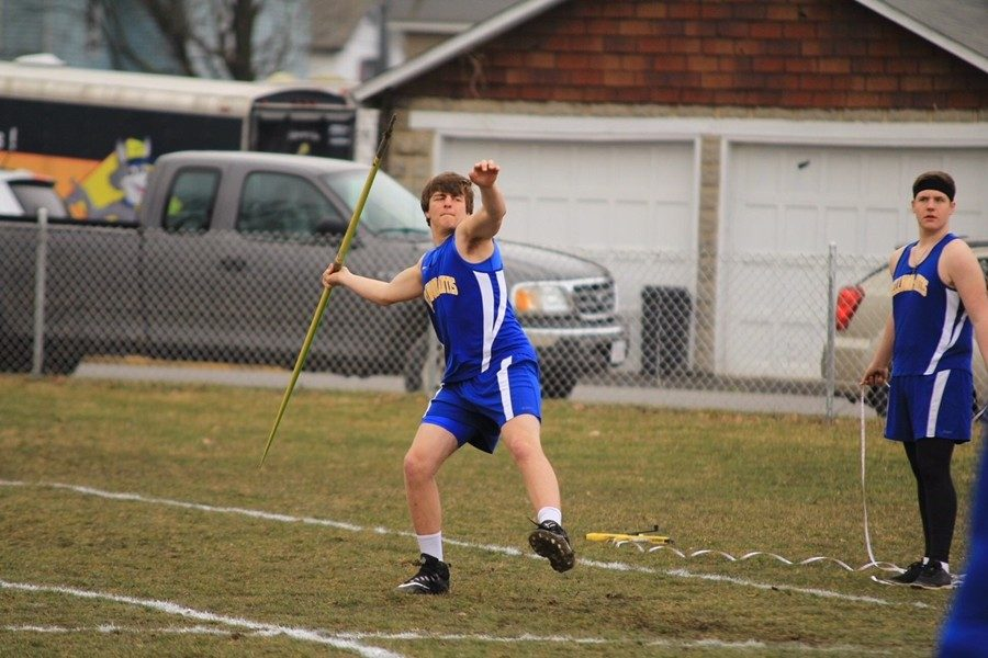 TJ Wyland lets one fly in the javelin.