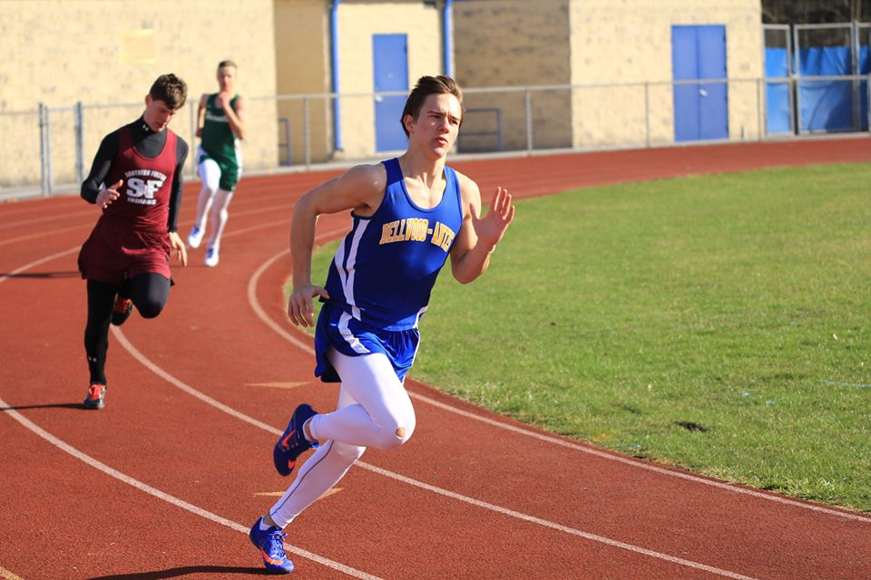 Tanner Worthing won two events in the boys dual meet with Northern Bedford and Mount Union.