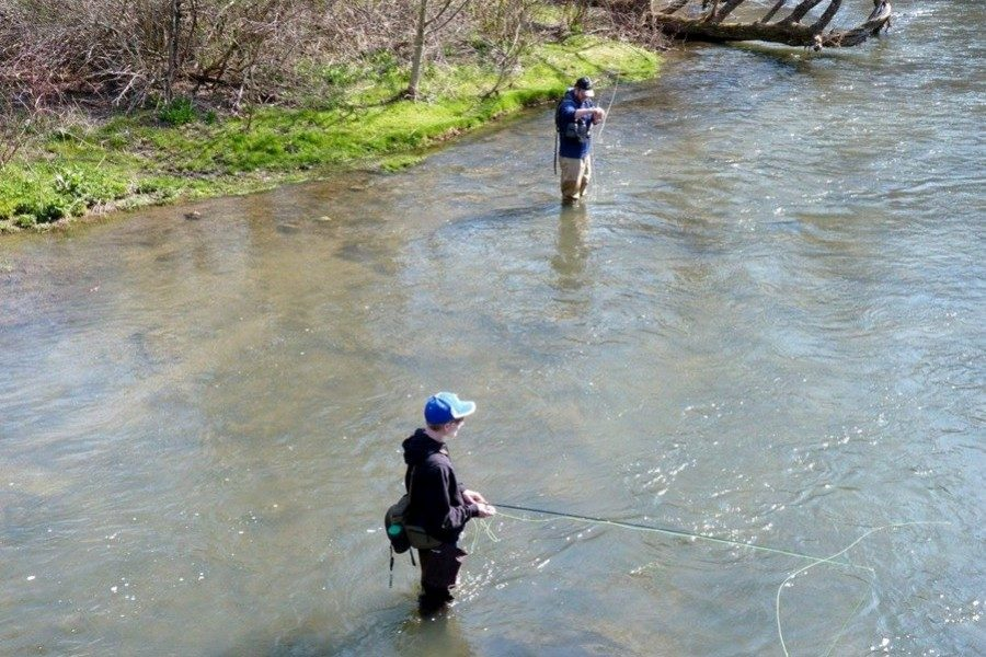 Jack+Showalter+knows+some+of+the+best+spots+to+go+for+the+first+day+of+trout+season.