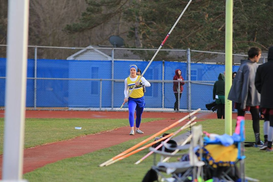 Alexis Gerwert continued her strong season in the pole vault.