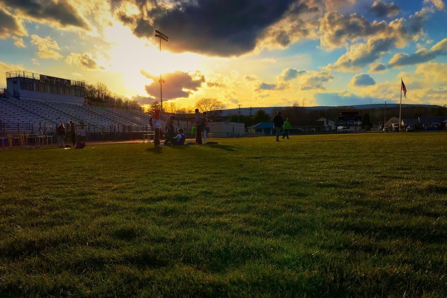 B-A's track teams used a rare sunny day this spring to post impressive individual and team performances.