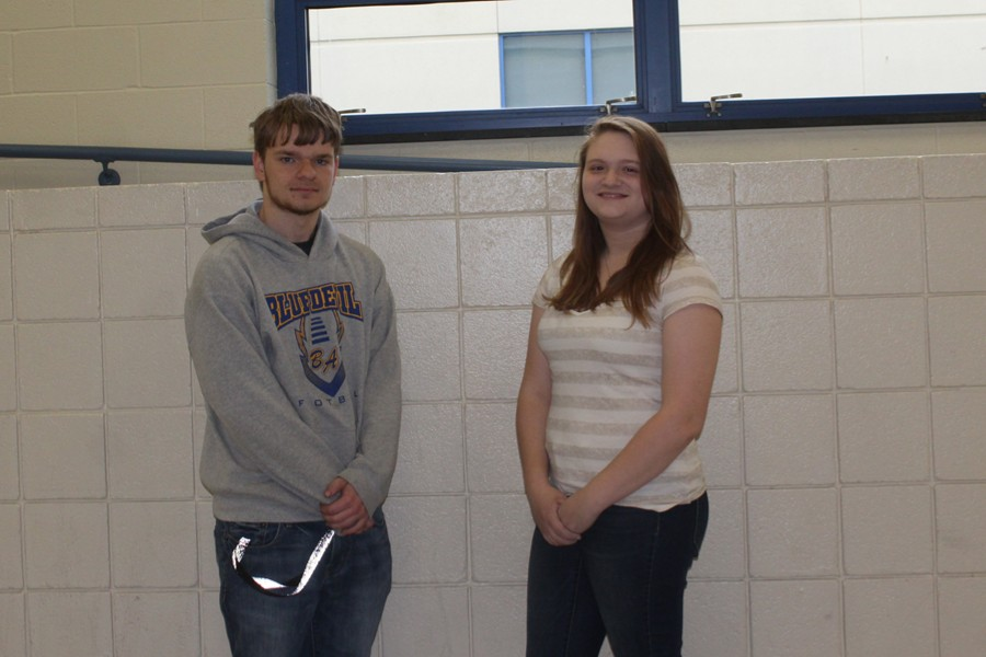 Dustin Miller and Danielle Coackley are two of B-A's CTC students who were recognized for outstanding achievement at the Achievement Banquet.