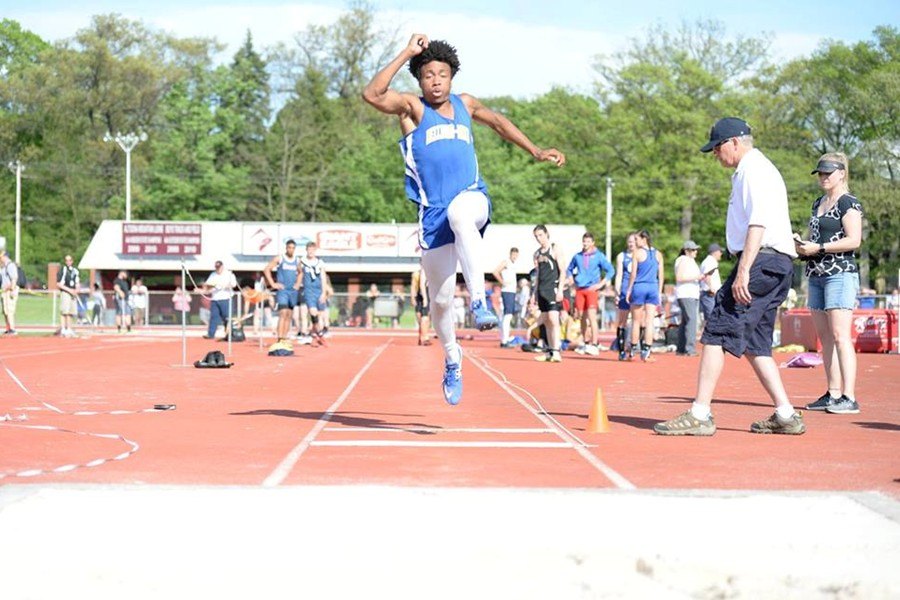 Clay Engle went over 44 feet to capture the District 6 2A triple jump championship.