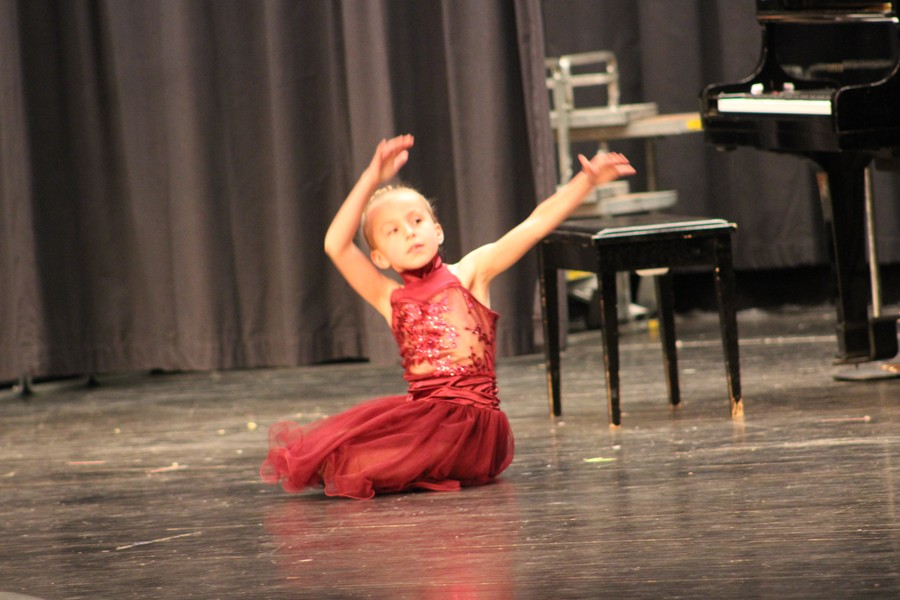 Sophia Pullara dances in the annual Myers Talent Show.