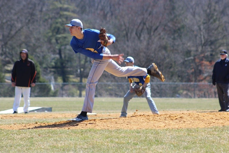 Sophomore Travis Luensmann was dealing against Claysburg-Kimmel, tossing a one-hit shutout.