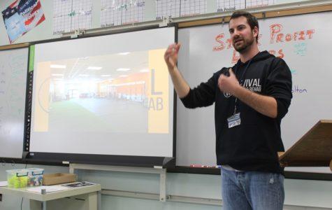Tyler Hunter visits B-A POD classes