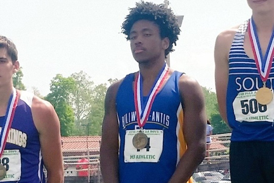 Clay Engle took home the second PIAA medal of his career by placing third in the triple jump at Shippensburg.