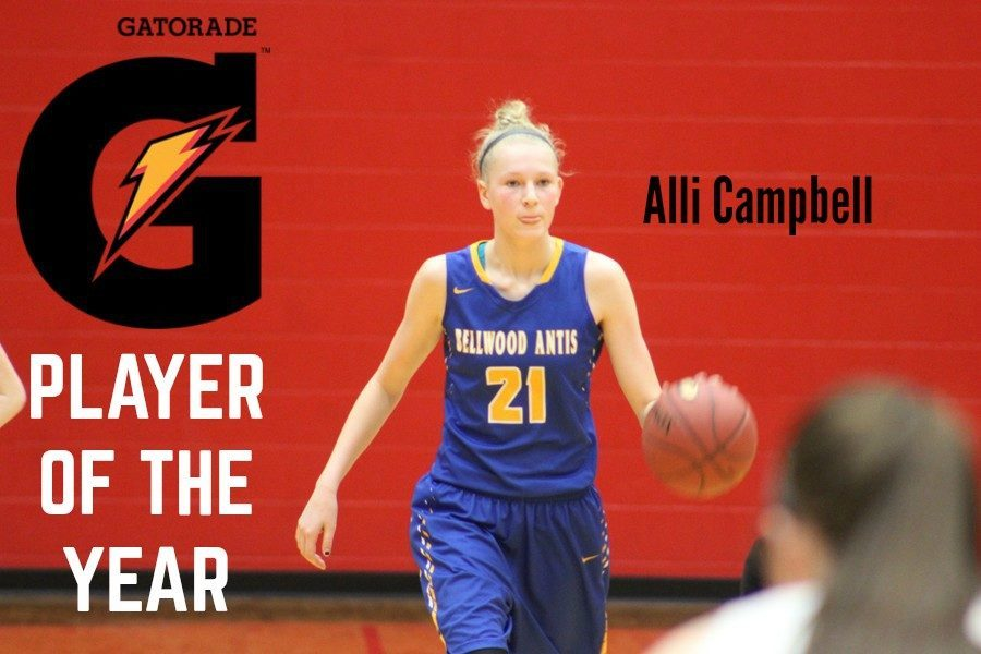 Alli Campbell had many special moments on the court in 2017-18, including becoming the fastest player in B-A history to reach 1,000 points.
