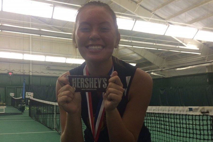 Tina Hollen capped her tennis career with a District 6 singles title.
