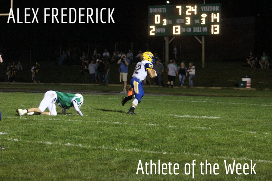 Alex Frederick is leading B-A in rushing.