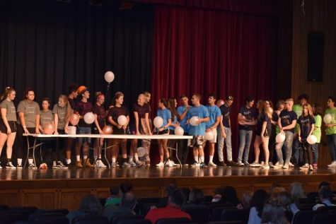 Homecoming court lets loose with Skit Night