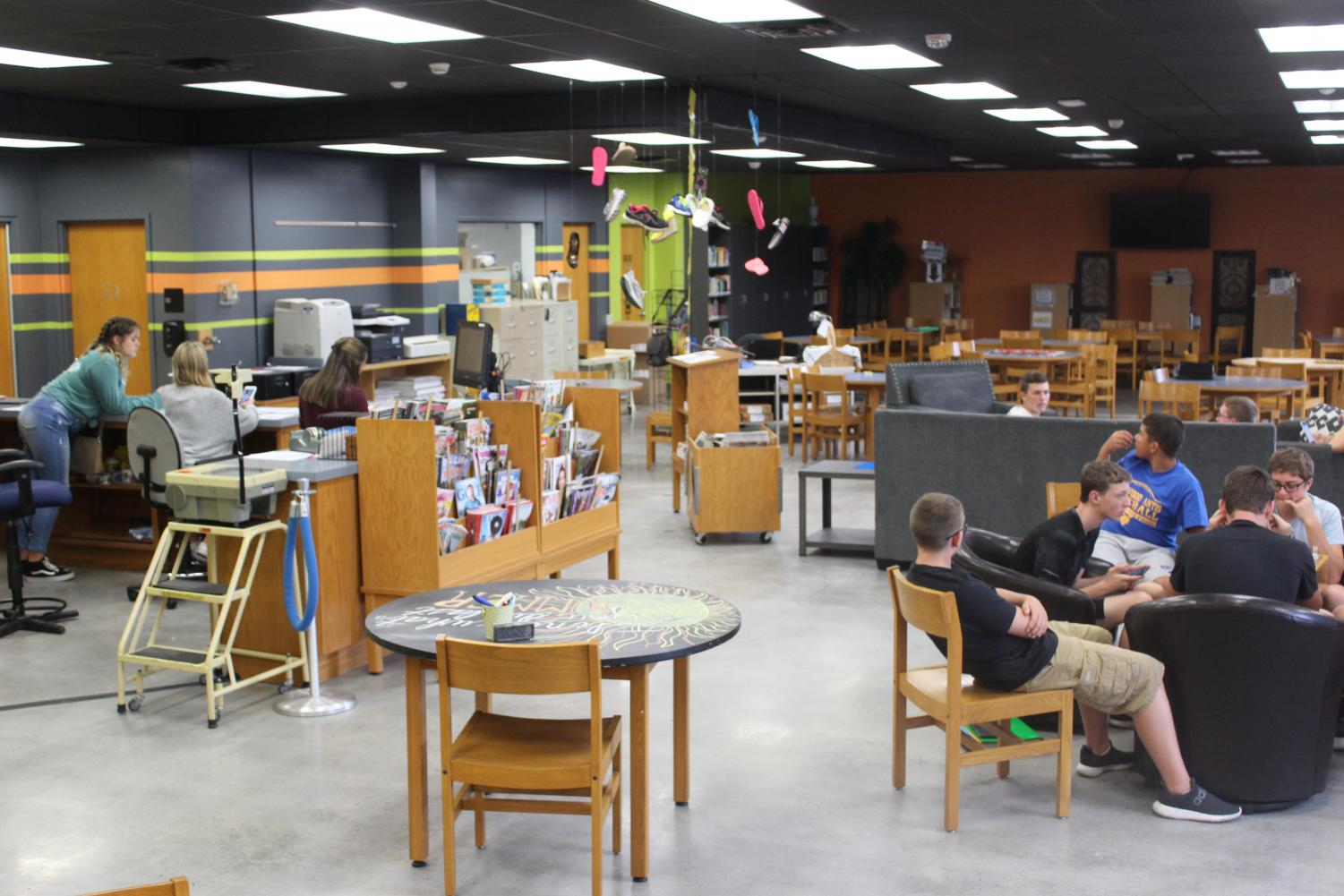 The media center has made some new renovations that are proving quite popular with B-A students.