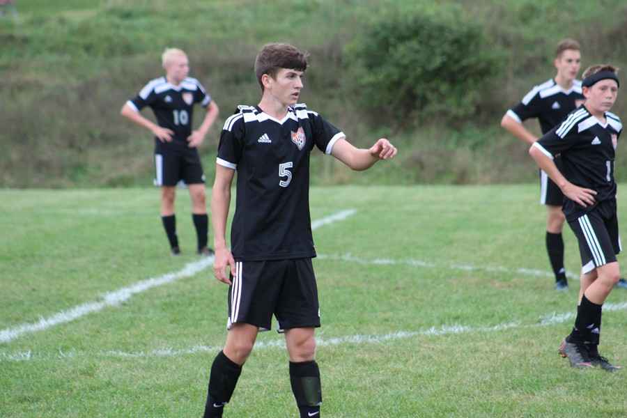 Corey Johnston directs traffic in the Tyrone/Bellwood-Antis co-op team's 4-0 loss to Bellefonte.