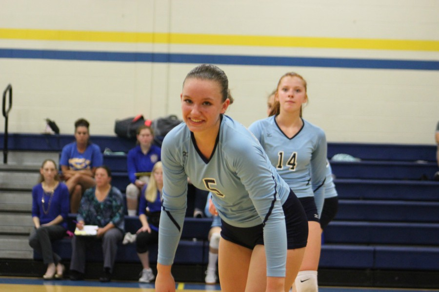 Bella Kies gives a knowing glance to the BluePrint camera in the Lady Devils win over Claysburg.