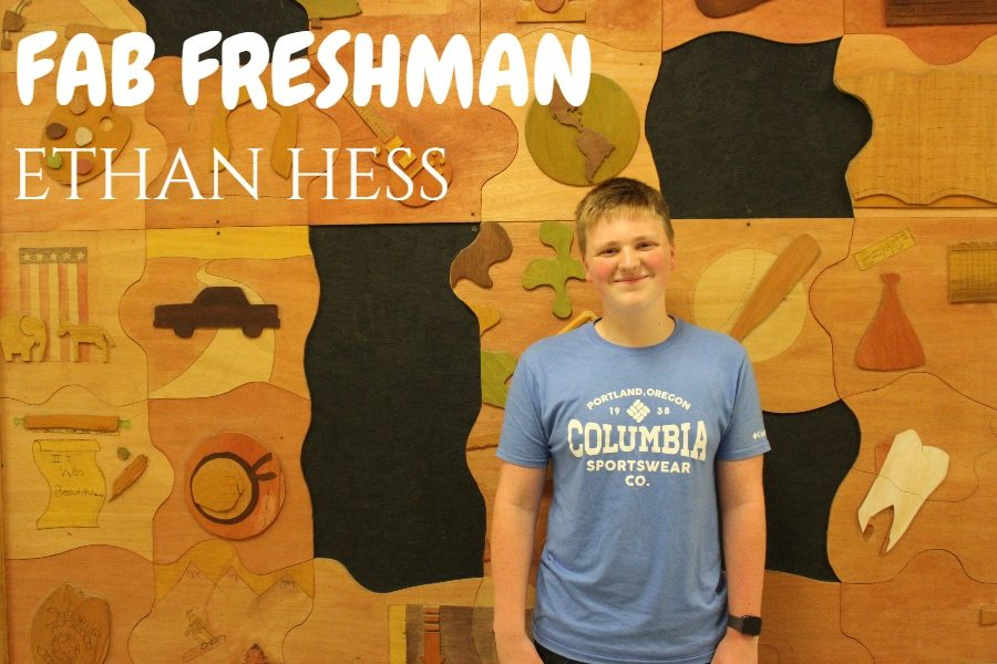 Freshman Ethan Hess is loving high school life.