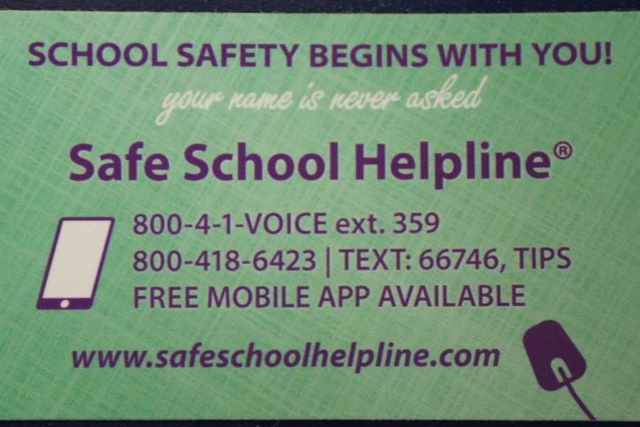 The Help Line is available for students to call with their problems.