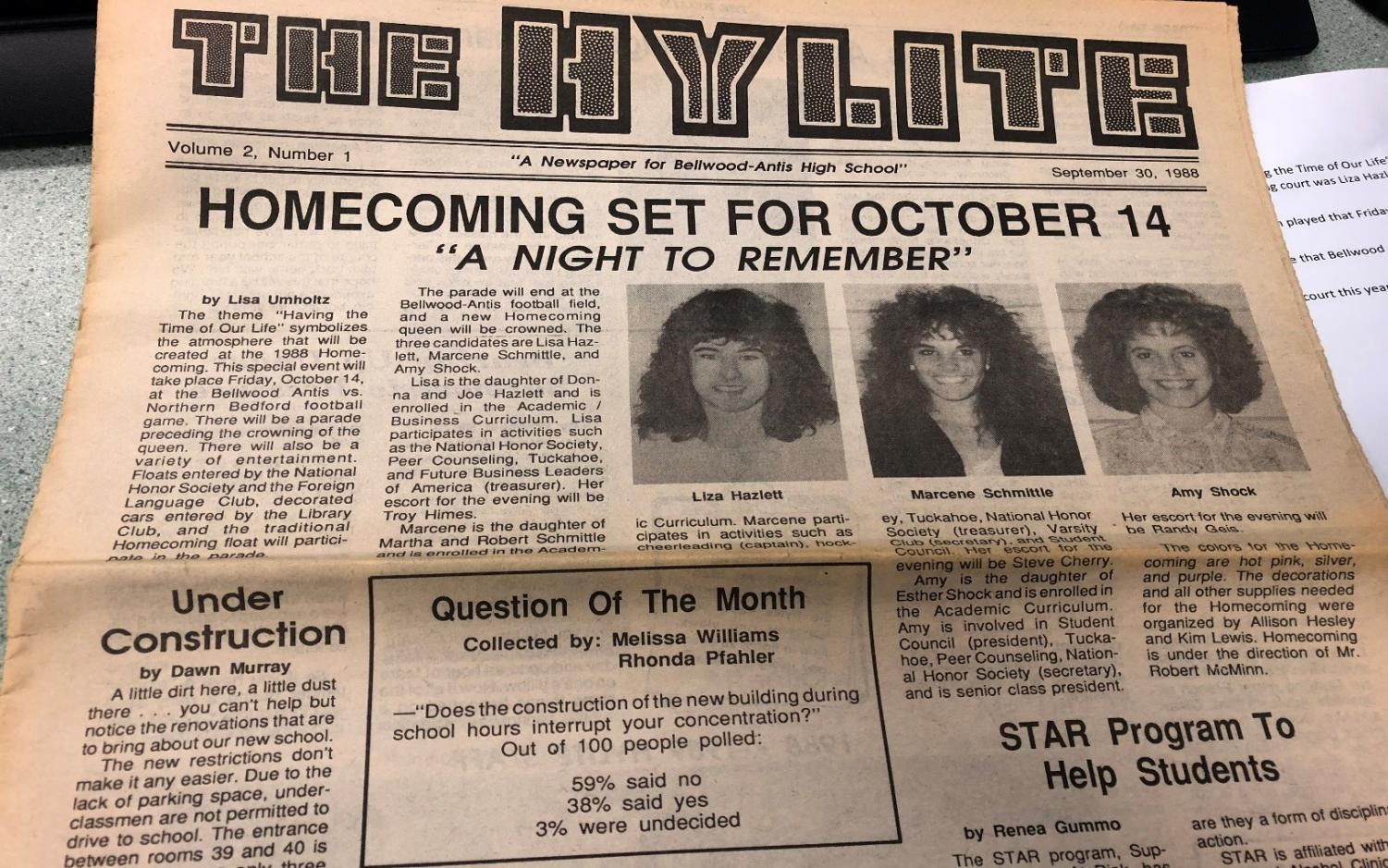 Thirty years ago homecoming was in action  on October 14,1988