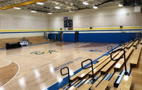 The renovated gym is ready to open for volleyball season.