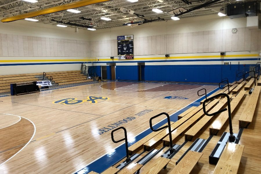 The+renovated+gym+is+ready+to+open+for+volleyball+season.