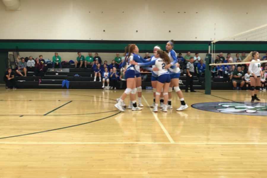 The volleyball team defeated Juniata Valley last night 3-1.