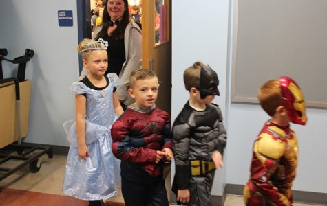 Students have a chance to dress up and trick or treat with their school friend's at Renaissance's first Trick or Treat Night at the high school.