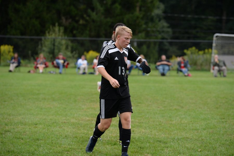 Corbin Nale scored his first varsity goal in the soccer teams win over Clearfield.