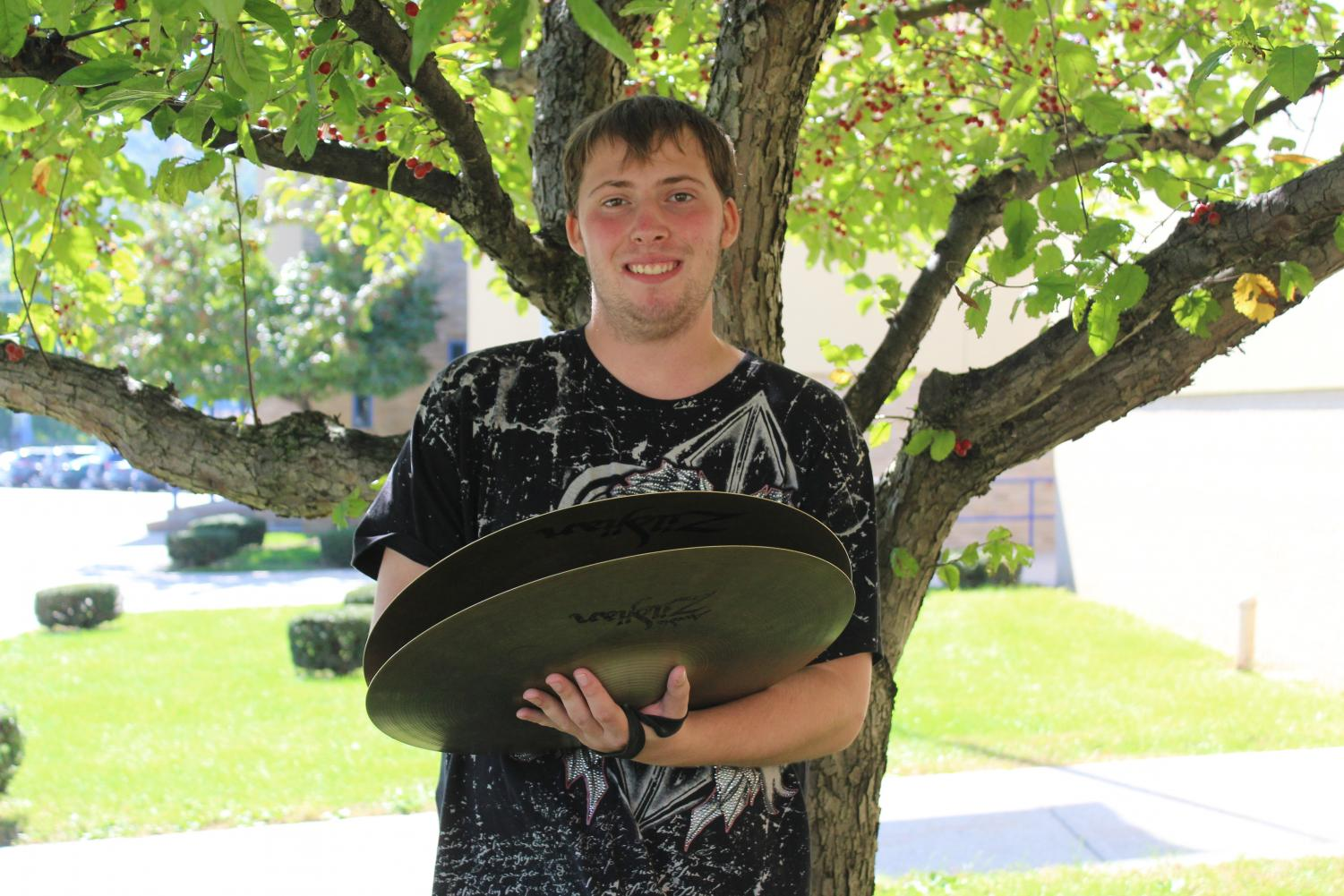 Tyler Long has been growing as a percussionist in the marching band.