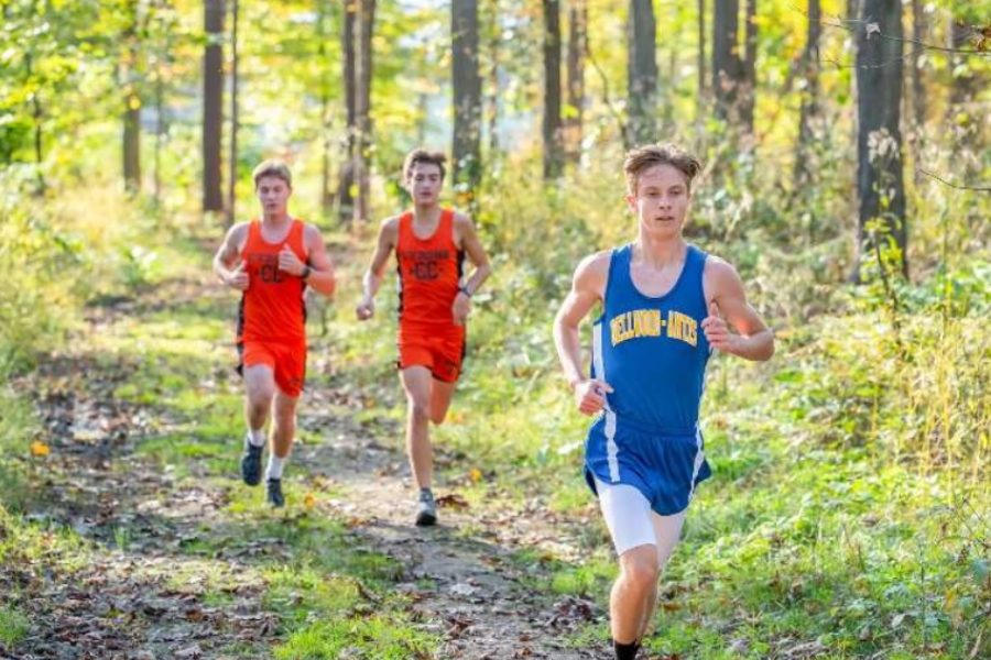 Kenny+Robinson+is+nearing+the+18s+in+his+sophomore+season+in+cross+country.