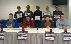 Scholastic scrimmage team members include: front row (l to r), Nathan Wolfe, Dan Kustenborder, Philip Chamberlin, and Caden Nagle; back row (l to r), Kenny Robinson, Alex Taylor, Aiden Taylor, John Sloey, and Paulino Cuevas.