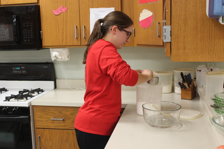Gabriella Finn is enjoying helping others through Home Ec. Club.