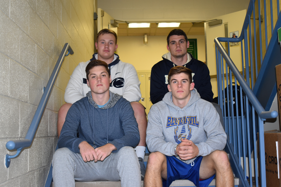 Bellwood-Antis had four foootball players named to the All-ICC first team. They were (front row, l to r): Troy Walker and Alex Schmoke; (back row, l to r): Evan Pelligrine and Caden Nagle.