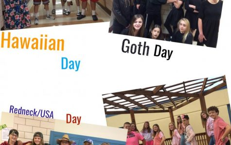 Eighth graders showing off some of the more popular Theme Days.