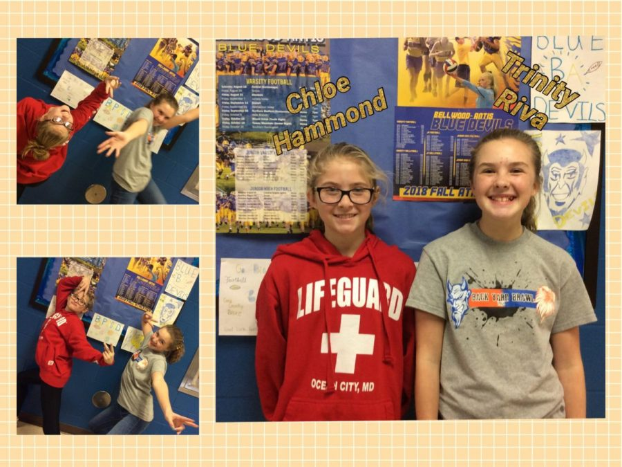 These 7th graders enjoy participating in breakout challenges while in the media center.