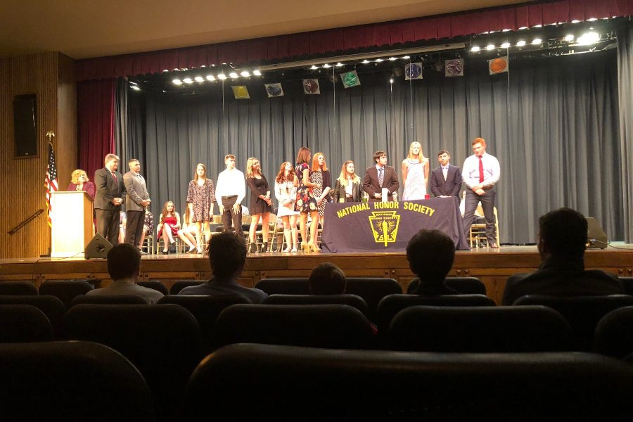 Thirty students were inducted inducted into the National Honor Society recently.