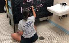 Over the summer, B-=A Renaissance members like Mya Decker took time away from vacation to decorate the school in an effort to create a positive atmosphere.
