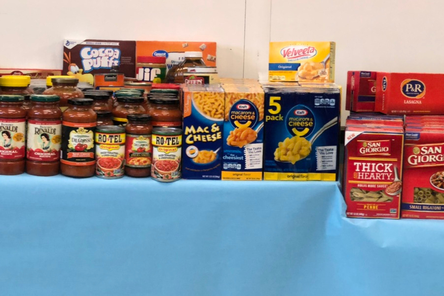 The BAEA collected more than 500 cans and boxes of food with its annual food drive.