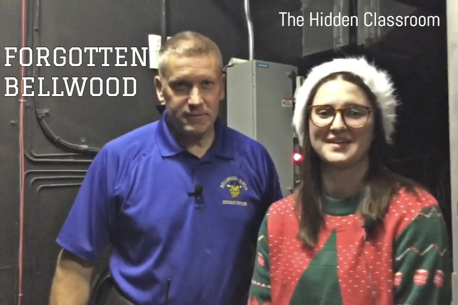 This week Tim Mercer takes Mya Decker on a tour of the hidden classroom above the auditorium stage,
