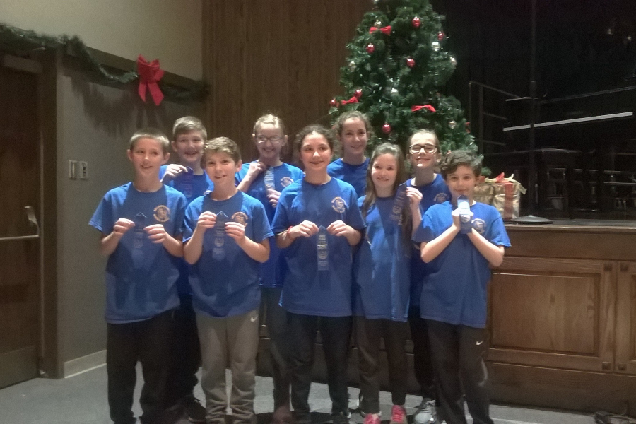 The B-A Blue reading team took first at its competition at Bellwood-Antis.