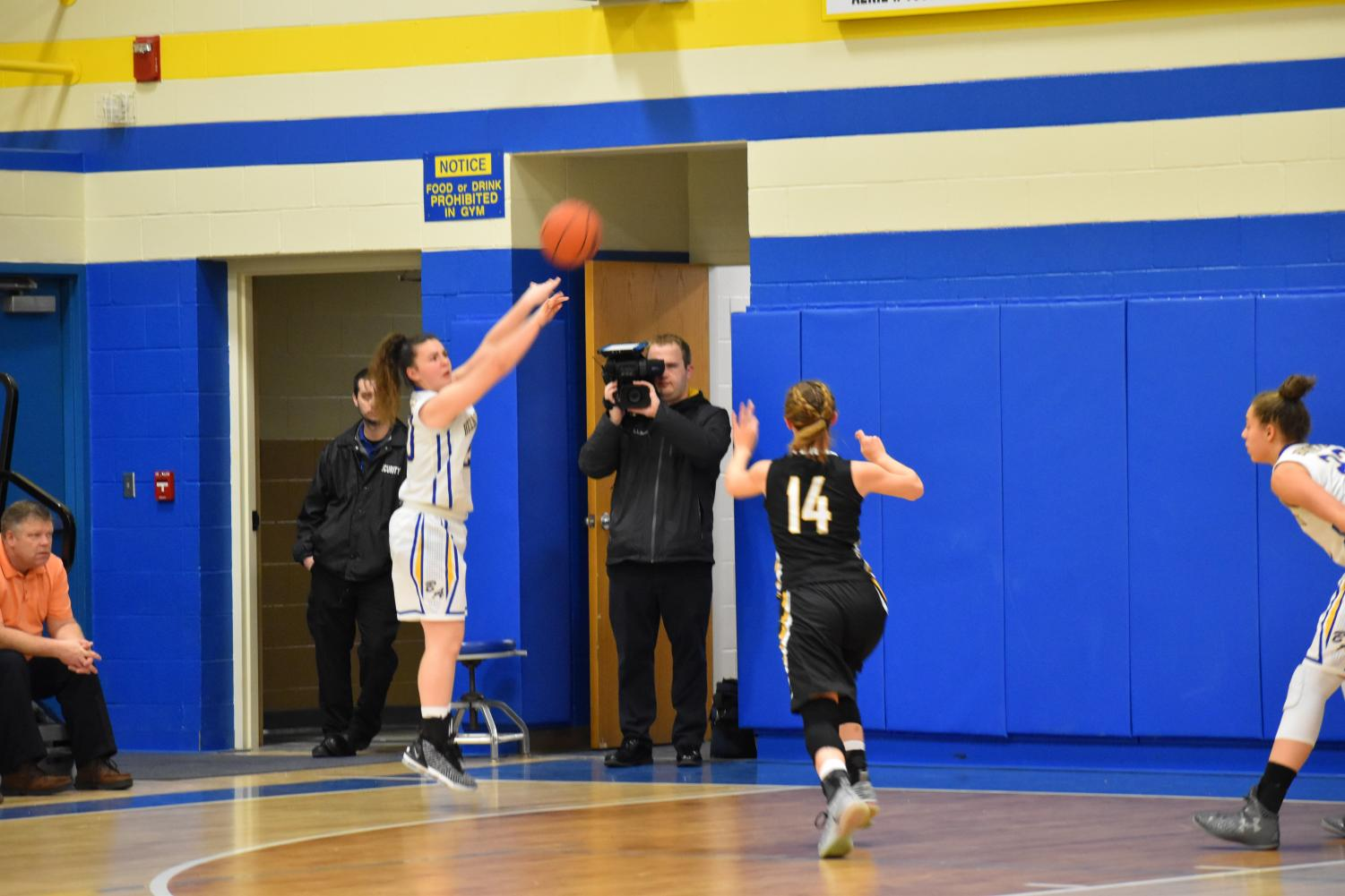 Emilie Leidig takes the three against Moshannon Valley.