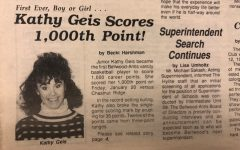 Kathy Geis is the B-A girls basketball team's first 1,000 point scorer. She remains the third all-time leading scorer in school history.