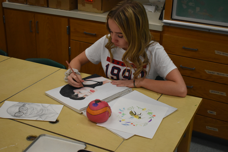 Haley Campbell has been making strides in art class.
